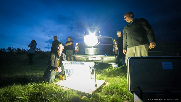 At Teresas - Breaking Light - projecting